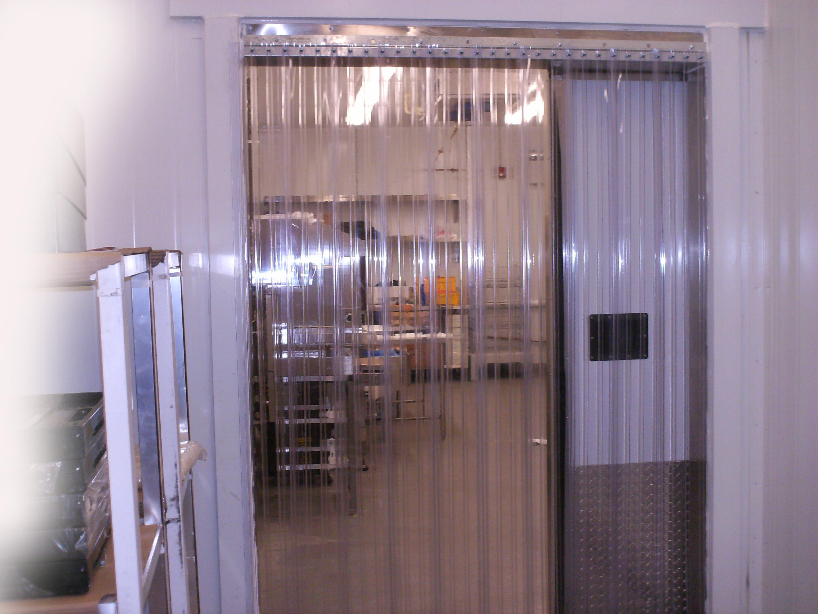 vinyl strip door curtain 84 x 96 cooler freezer ribbed
