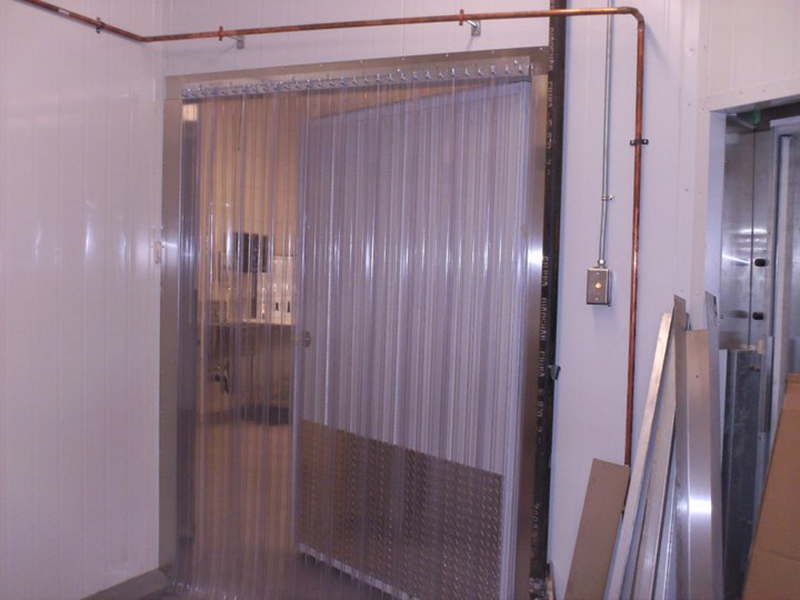 Freezer strip doors