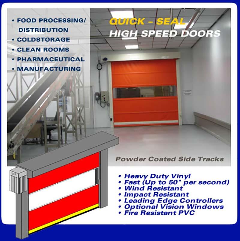 High speed doors roll up strip