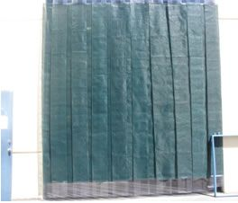 Mesh Material shown is our Tough Durable Mesh Screen 13-oz/sq yd industrial strength green vinyl coated polyester weave  sc 1 st  Strip-Curtains.com & PVC Mesh Doors Roll Up Sliding-Bunching and Strip Mesh Doors ...