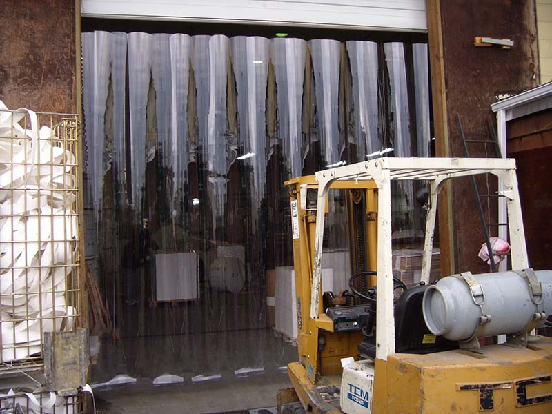 plastic strip door and curtains strip