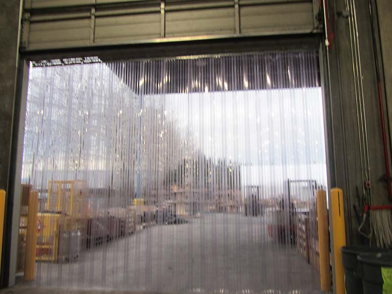 Vinyl air strip curtains