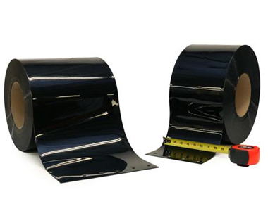 PVC Roll Black Opaque Strip