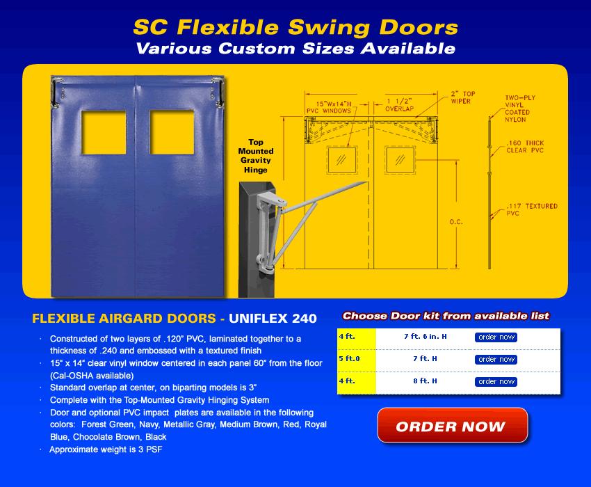 Flexible PVC Swing Doors Strip Curtains